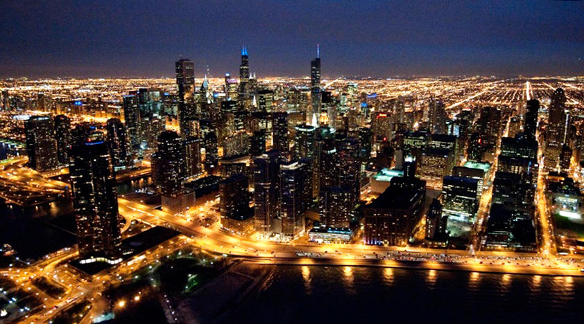 Sunset Helicopter Tour Chicago