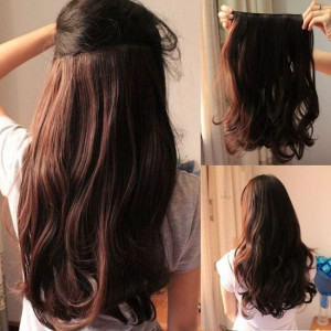 The low down on hair extensions collegetimes 16 inch brown clip on real hair extensions pmusecretfo Image collections