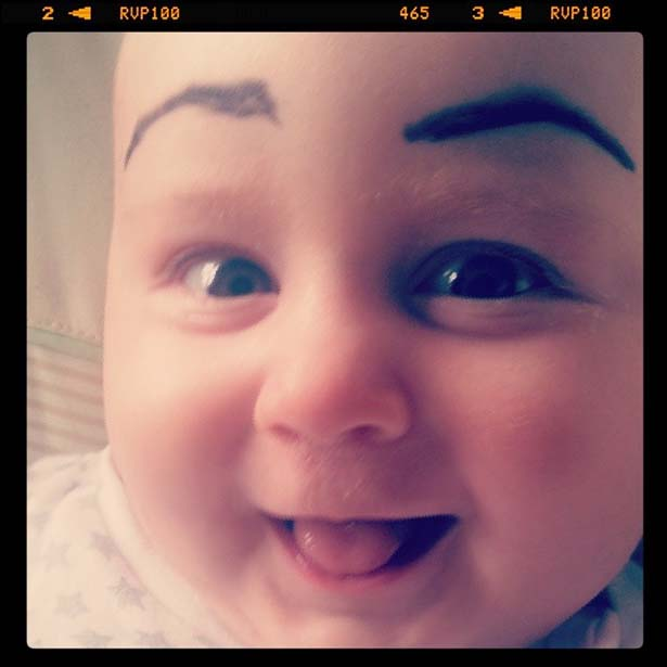 Eyebrows On Babies Is The Best Idea Ever Collegetimes