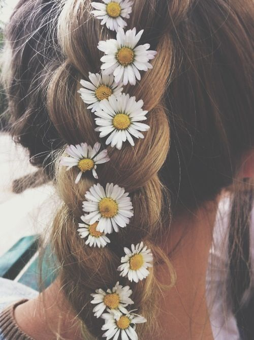 Flowers Braids And Looking Undone Festival Hair