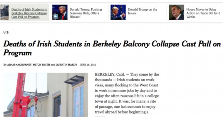 Berkeley Balcony Tragedy