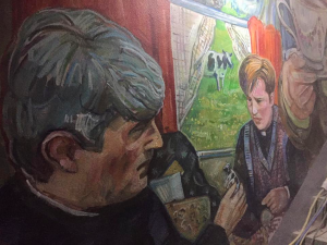 pub with a father ted mural
