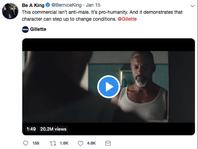 Be A King Tweet