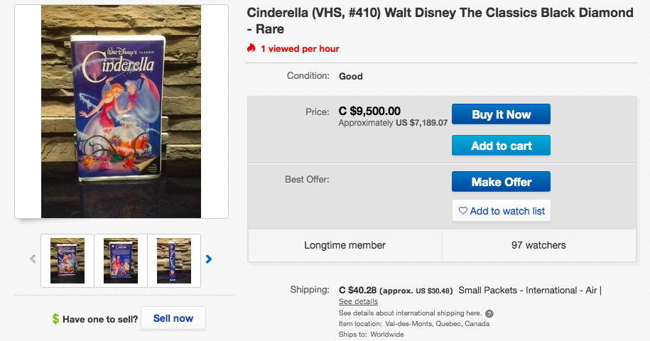 Old Disney VHS Tapes